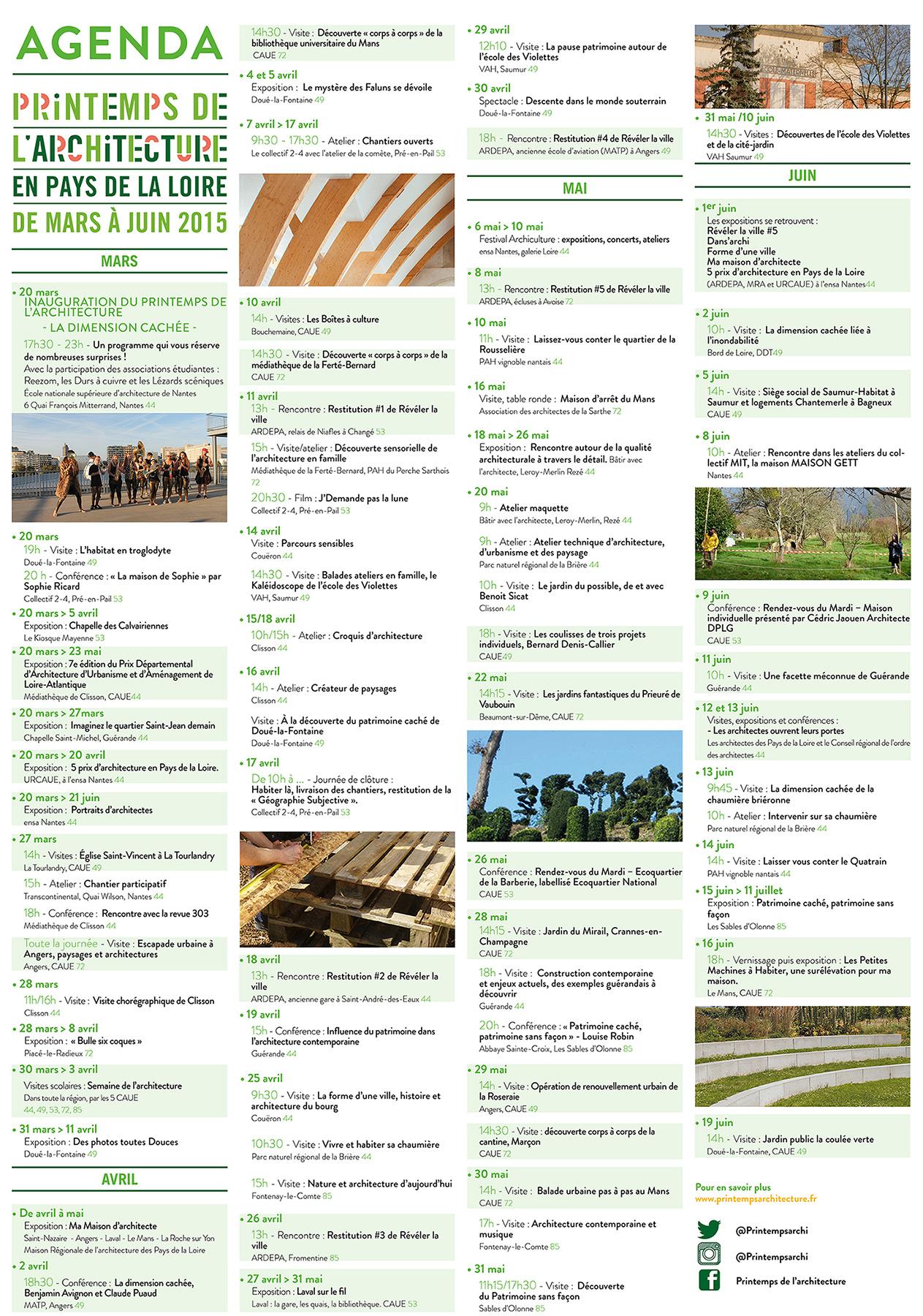 Agenda printemps 2015