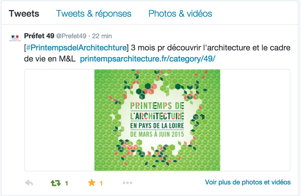 Préfecture d'Angers : tweeter