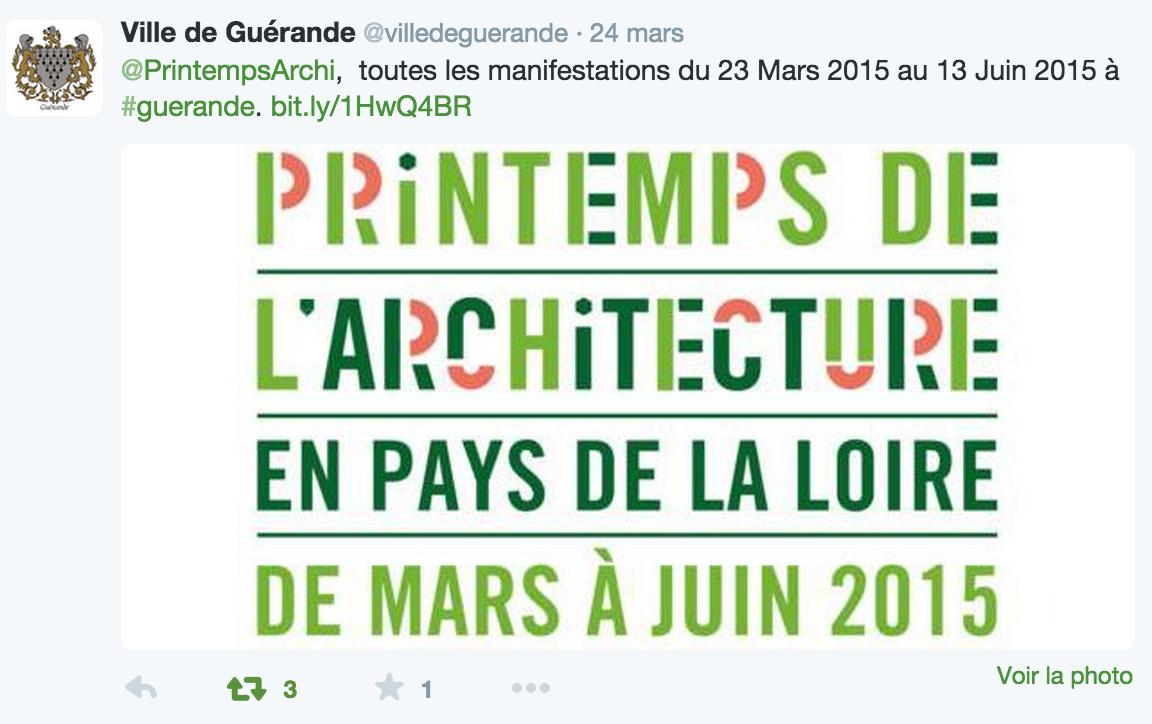 Ville de Guérande : tweeter