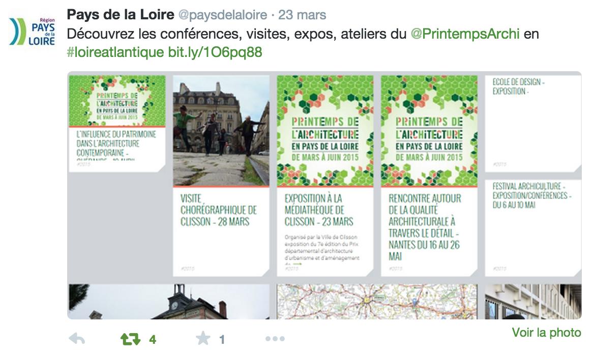Région pays de la loire : tweeter