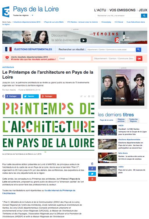 France 3 pays de la loire : site web