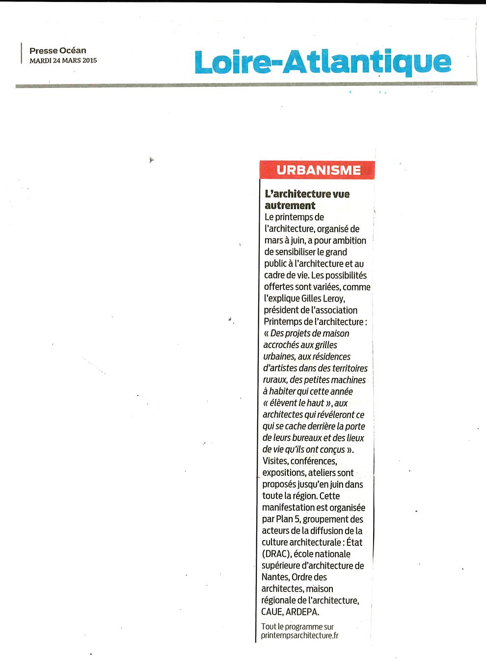 Presse Océan, mardi 24 mars : presse