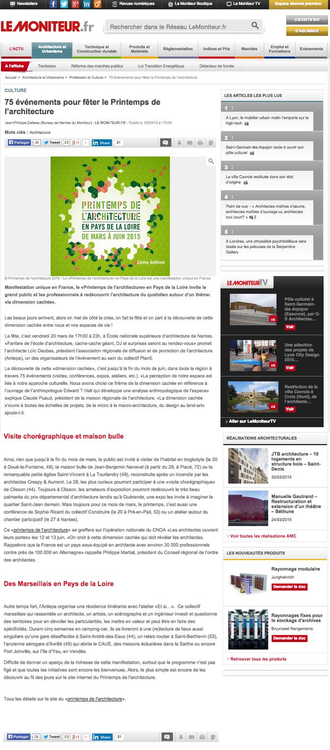 Le moniteur : site web