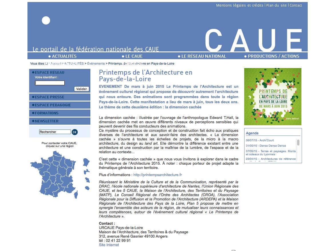 Fédération des CAUE : site web