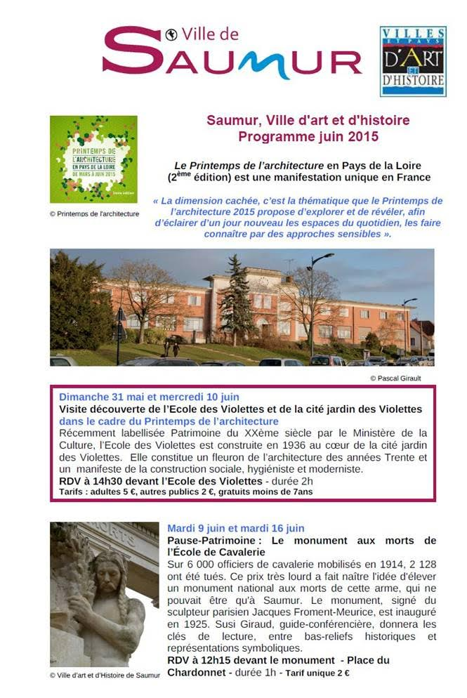 Revue de Presse de la ville de Saumur