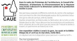 «Laval sur  le fil «, du 27 avril au 31 mai